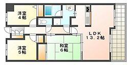 アーバンタワー己斐[7階]の間取り