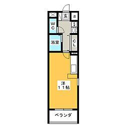 PINE EAST[1階]の間取り