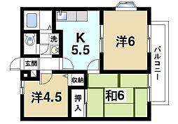 メゾン・ド・パッション[2階]の間取り