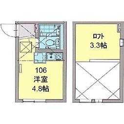 カパルアガーデン横浜反町[0106号室]の間取り