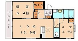PRADO新宮[2階]の間取り