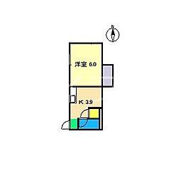アゼリア舞高[1階]の間取り