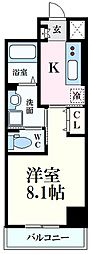 プラージュ広島駅前 5階1Kの間取り