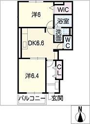 プリムローズII B棟[1階]の間取り