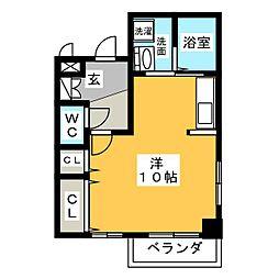 レベ・デ・アン[2階]の間取り