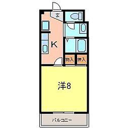グリーンシティ2[1階]の間取り