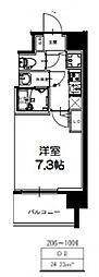 S-RESIDENCE新大阪Ridente[706号室号室]の間取り