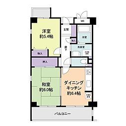 フェリス武庫之荘[1階]の間取り