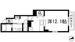ブリーゼT[1階]の間取り
