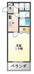 増田服部マンション[4階]の間取り