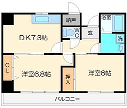 ボーグ新大阪[4階]の間取り