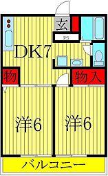 バケーロ[2階]の間取り
