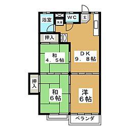 レジデンス新栄I[2階]の間取り