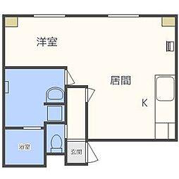 瀬比亜館円山B棟[2階]の間取り