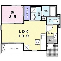 ケーズコート III[1階]の間取り