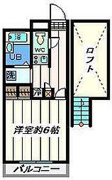 千葉県松戸市上矢切の賃貸マンションの間取り