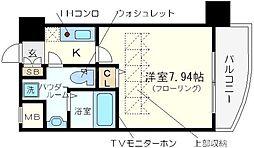 セレニテ難波西[4階]の間取り