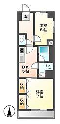 愛知県名古屋市中区正木2の賃貸マンションの間取り