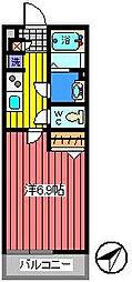 埼玉県さいたま市浦和区針ヶ谷2丁目の賃貸マンションの間取り