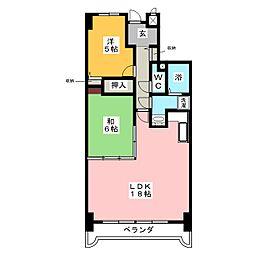 アメニティ雁道[6階]の間取り