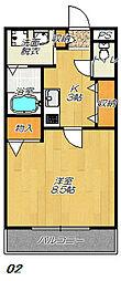 大阪府東大阪市稲田本町3丁目の賃貸アパートの間取り