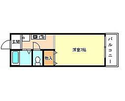 セゾンアビデ[1階]の間取り
