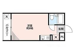 アリタマンション[4階]の間取り