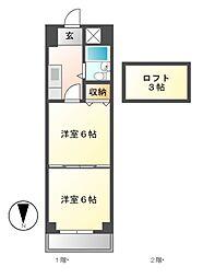 桜マンション[9階]の間取り