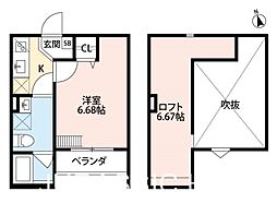 大阪府堺市堺区南清水町3丁の賃貸アパートの間取り
