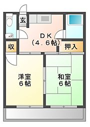 メゾンミヤマエ[2階]の間取り