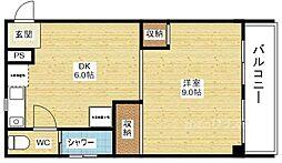 オークエスト[3階]の間取り