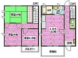 [テラスハウス] 広島県広島市南区向洋新町2丁目 の賃貸【/】の間取り