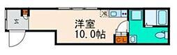 JR常磐線 綾瀬駅 徒歩3分の賃貸マンション 4階ワンルームの間取り