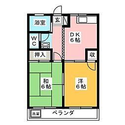 コーポハシマ[3階]の間取り