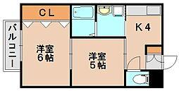 プティメゾンミナミ[2階]の間取り