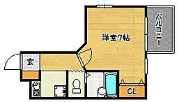 兵庫県神戸市兵庫区松本通の賃貸マンションの間取り