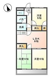 TステージミカーレII[2階]の間取り