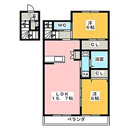 (仮)青葉町メゾン[2階]の間取り