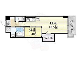 カーサベレタ 3階1LDKの間取り