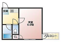 大阪府大阪市平野区平野西5の賃貸マンションの間取り