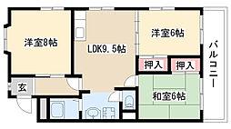 愛知県名古屋市天白区野並1丁目の賃貸マンションの間取り