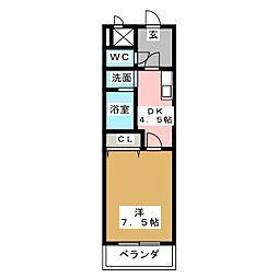 サンシティ栄生[3階]の間取り