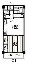 東京都杉並区今川1丁目の賃貸マンションの間取り