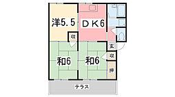 ファミールマサキ[102号室]の間取り