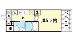 エスリード神戸WEST[406号室]の間取り