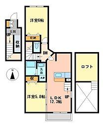 ベル ソレイユKII[2階]の間取り