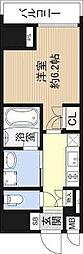 Osaka Metro長堀鶴見緑地線 長堀橋駅 徒歩5分の賃貸マンション 8階1Kの間取り