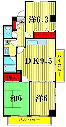 LAZFITH  SHINYABASHIRA[2階]の間取り