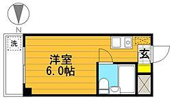 ムンドカーサ高木[3階]の間取り