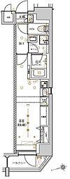 東京メトロ日比谷線 入谷駅 徒歩7分の賃貸マンション 9階ワンルームの間取り